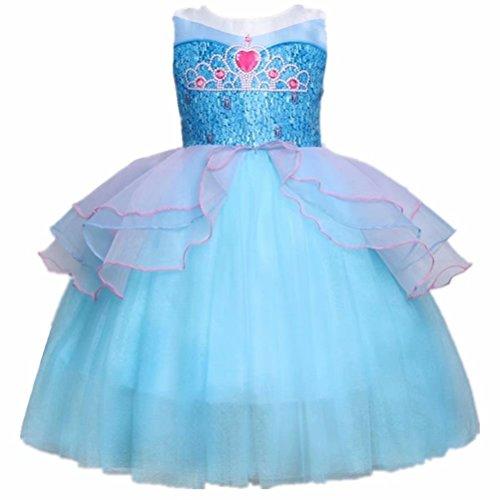 Tsyllyp Girls Princess Dress Elsa Party Costume Holloween Christmas Tutu Dresses Ball Gowns