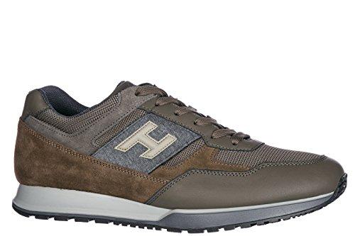 Hogan Mænds Sko Mænd Ruskind Sneakers Sko H321 Grøn 8IoX2JNk5