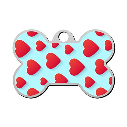 KSOE187 Personalized Printed Dog Tags Red Love Peach Pet ID Tags for Cat and -