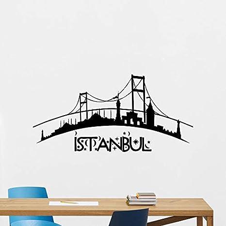 Stanbul Skyline Tatuajes de pared Ciudad Etiqueta de Vinilo Arte ...