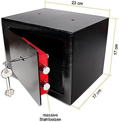 Schramm® Caja Fuerte Caja Fuerte con Cerradura Mini Caja Fuerte Mini Caja Fuerte de Pared Caja Fuerte para Muebles Caja Fuerte de Pared con Llave Negro: Amazon.es: Hogar