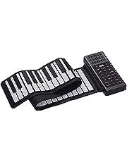 IKAYAAA Draagbare elektrische 61 multifunctionele sleutel-handoprollende piano flexibel siliconen piano toetsenbord ingebouwde luidspreker oplaadbare lithium batterij nagalm BT-functie