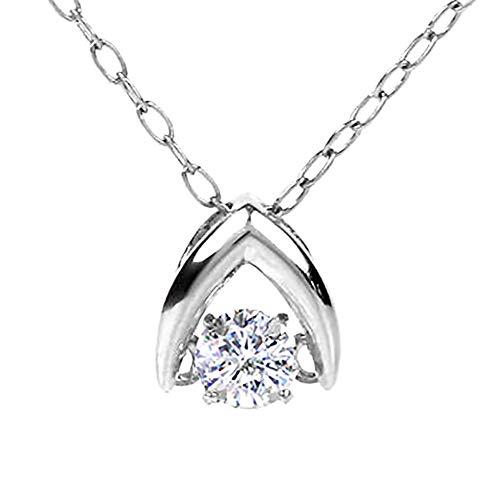 ダンシングストーン ネックレス PLUSTER プラチナ PT900 ダイヤモンド 0.1ct クロスフォー レディース [ギフトボックスセット]