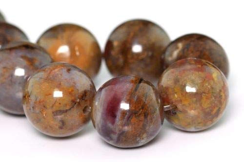 (9mm Genuine Natural Pietersite Gemstone Beads Grade Round Loose Beads 7'' Crafting Key Chain Bracelet Necklace Jewelry Accessories)