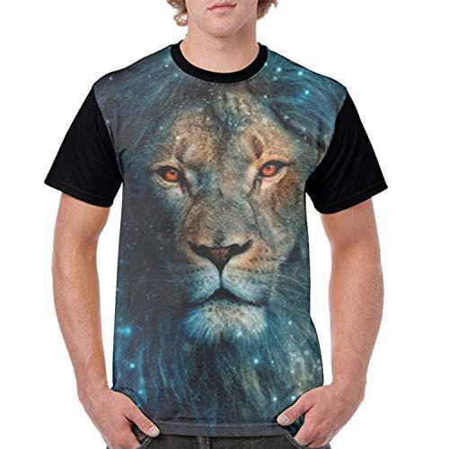 Fair Lion 3D Printed Graphic T Shirts Summer Casual Cool T-Shirts Fashion Couple Top Tees ()