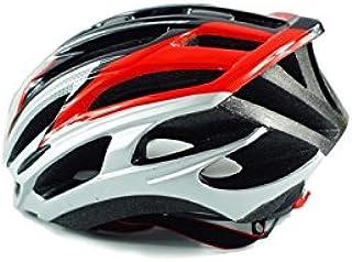 Flowerrs Scooter Helmet Casco bicicletta da bicicletta casco regolabile casco casco adulto adulto (nero + rosso) Casco da skate