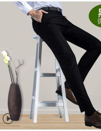 Pantalones Pantalones de Traje Negro Delgado para Hombre ...