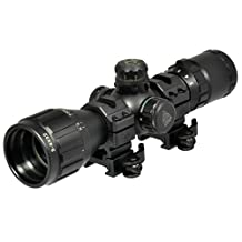 UTG SCP-M392AOLWQ 3-9X32 Compact CQB Bug Buster AO RGB Scope with Med. Picatinny Rings, 2-Inch Sunshade
