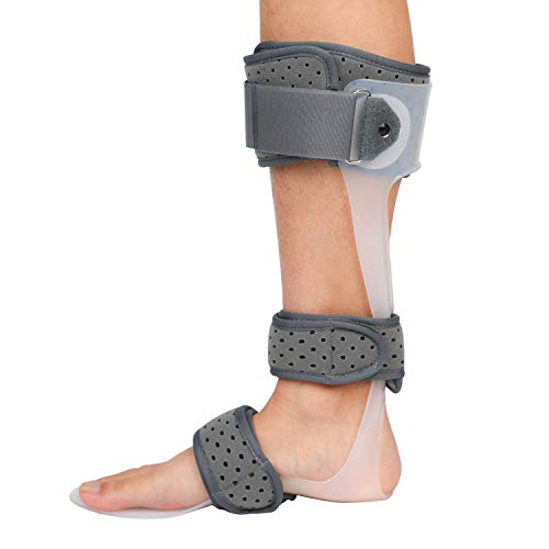 AFO Brace Medical Ankle Foot Orthosis Support Drop Foot Postural Correction Brace, FDA Approved (Right/L)
