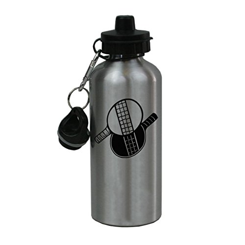 Personalized Custom Ping Pong Aluminum Silver Finish 20 Ounce Water Bottle Customizable by CustomGiftsNow