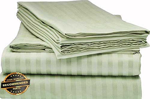 - Florance Jones Bamboo 1800 DEEP Pocket Striped Bed Sheet Sets Hypoallergenic Soft Collection Sheet Set SHSTHR-122018279 | Full