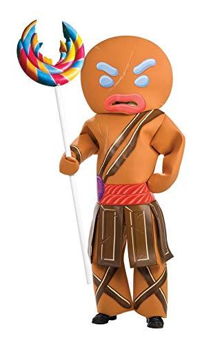 Shrek Gingerbread Man Warrior Costume, Brown, X-Large