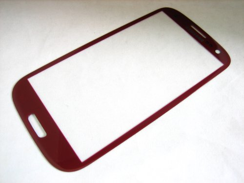Samsung Galaxy S3 III T-mobile SGH-T999 / AT&T SGH-i747 / Verizon SCH-i535 / Sprint SPH-L710 / US Cellular SCH-R530 / GT-i9300 - Red Front Glass - Mobile Phone Repair Part Replacement (Samsung Galaxy S3 Verizon Lcd)