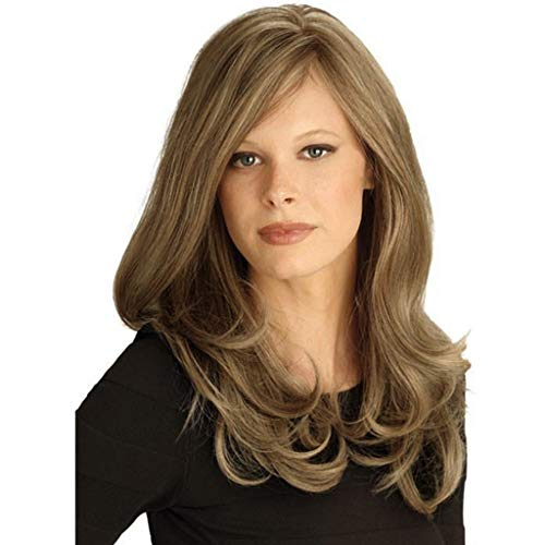 (Clearance Sale! Women 's Lace Front Wigs,2019 Summer Ladies Girls Long (Wavy Bob) Glueless Female European Hair Wig Fluffy Natural Looking Dirty Blonde Syntheic Full Wig)