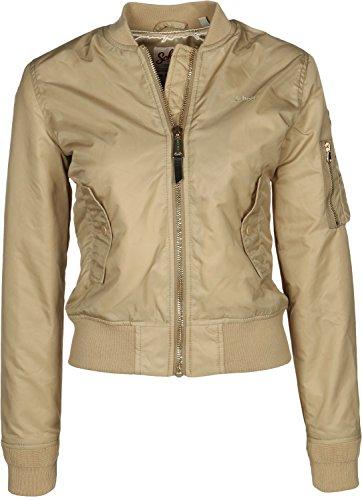 Schott NYC Women's Jktacw Bomber Jacket Gold