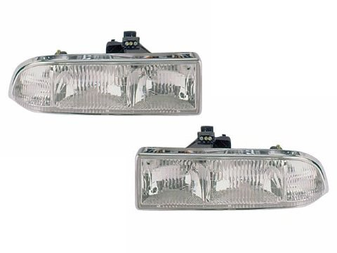 Chevy/GMC S-10 Pickup/S10 Blazer Headlights Headlamps Driver/Passenger Pair - Blazer Assembly Lamp Headlight