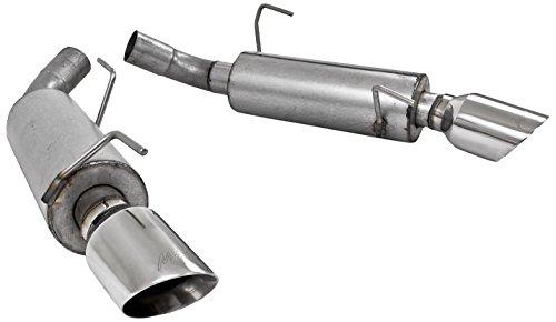 MBRP S7200AL Aluminized Dual Muffler Split Rear Axle Back Exhaust (Mbrp Axle Back Exhaust)