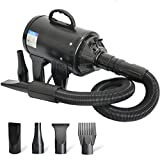 C&W Multipurpose High Velocity Dryer Blower, Pet Grooming Dryer with Heater,Pet Hair Force