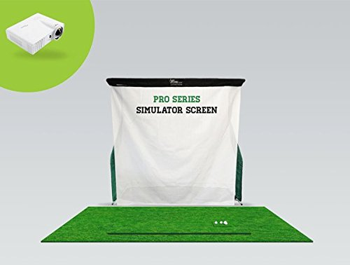 OptiShot 2 Golf in a Box 3 (Includes Optishot2, Pro Series Net Return, Screen, Projector and Stance Mat)