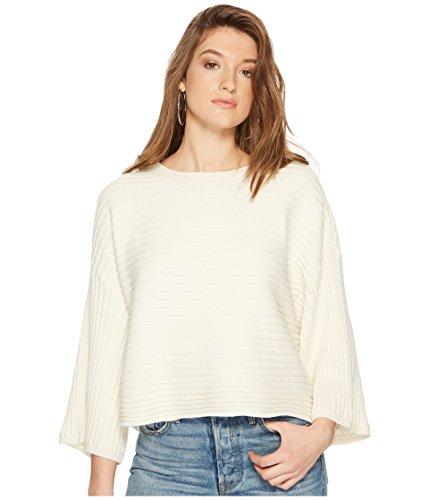 Jack BB Dakota Junior's Claudel Rib Stitch Wide Sleeve Sweater, Ivory, - Sleeve Sweater Wide