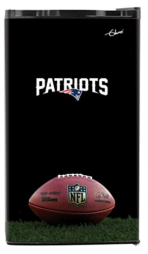 NFL New England Patriots Top Refrigerated Beverage Center, 3 cu. ft., Black
