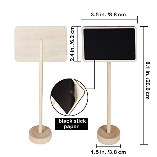 Supla 20 Pcs Mini Chalkboard Tabletop Signs with Stand Place Holders Party Wedding Message Memo Note Board Buffet Table Number Name Plant Signs Candy Bar Food Dessert Markers Table Setting Signs by Supla (Image #1)
