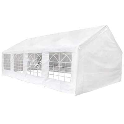 vidaXL Party Tent 26.2x13.1 ft Heavy Duty Large Commercial Canopy Wedding Events Tent, Canopy Tent Gazebo Party Tent Outdoor Patio, Waterproof UV Protection Tent, Marquee White : Garden & Outdoor