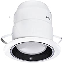 Nadair 22WHL-ALBP-BK 6in Indoor Outdoor LED Recessed Lighting - IC Rated - Weatherproof Rust Resistant Outside Spotlight, Complete Kit, BR30 780 Lumens Bulb (65W equivalent) Included, White
