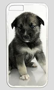 Puppy Dog Standing DIY Hard Shell Transparent Best Personality iphone 6 Plus Case