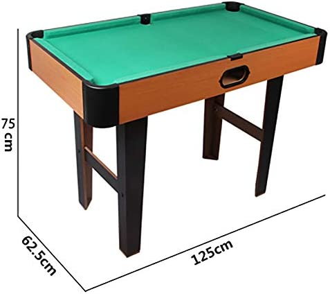 4.1 pies de piscina del billar mesa de billar sistema completo de accesorios de juego mod, mini cubierta mesa de billar para niños y adultos, portátil y móvil, conjunto completo de herramientas,Verde: