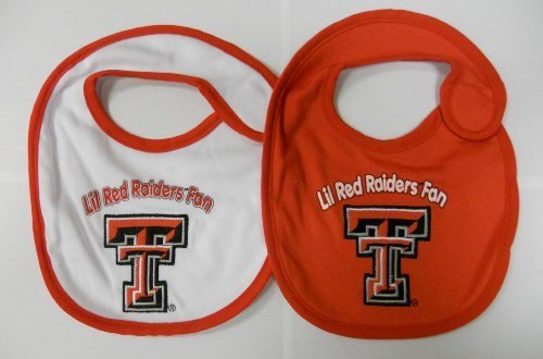 Texas Tech Baby Gear - Texas Tech Red Raiders NCAA Baby Bibs 2 Pack