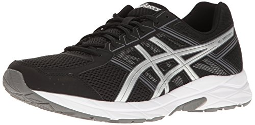 ASICS Men's Gel-Contend 4 Running Shoe, Black/Silver/Carbon, 9.5 M US