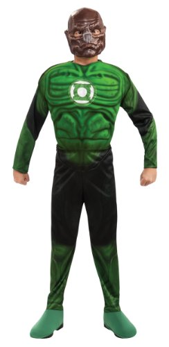 Green Lantern Child's Deluxe Kilowog Costume with Muscle Chest - One Color - -