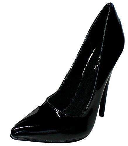 Lack Pumps Slippers Heels Noir femme Hi High Noir Erogance Top Ot6wdOq