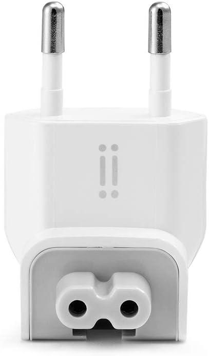 Aiino - Conector europeo compatible con dispositivos Apple con protección contra cortocircuitos, carga rápida, compacto, color blanco