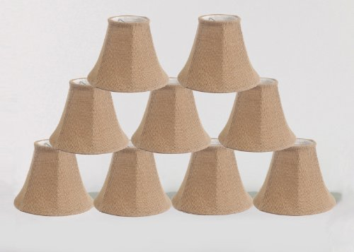 Urbanest 1100258d Chandelier Lamp Shade 6-inch, Bell, Clip on, Burlap (Set of - Shades Country Chandelier French