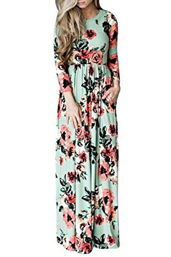 ink print maxi dress - 8