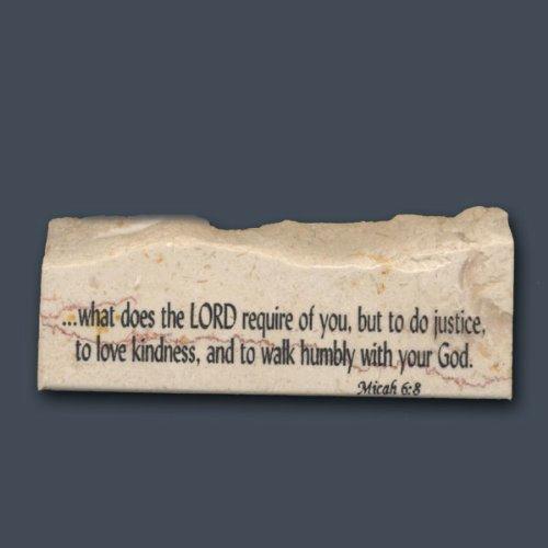 Micah 6:8 - Inspirational/Scripture Stone ()