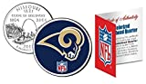 Licensed ST Louis RAMS NFL Colorized Missouri Statehood Quarter! W/H COA & Display Stand!