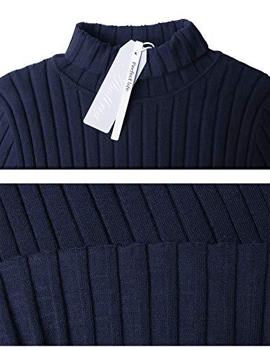 Manica Girocollo Pullover Eleganti Notte Lunga Regalo Ideale Maglioni Blu Lungo Alto Abollria Collo collo Caldo A Donna Vestito Maglieria Invernali Dolcevita E Maglione wgCxz06q