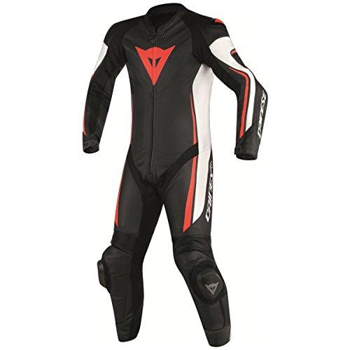 Dainese Men's Moto Suit Black/White/Red-Fluo 52