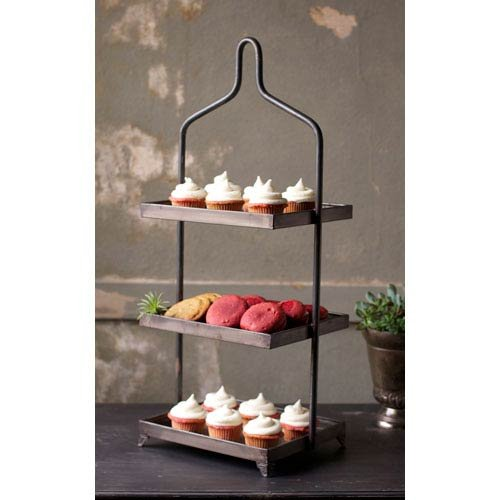 Kalalou Square Metal Three Tiered Display by Kalalou