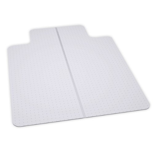 - ES Robbins EverLife Lipped Foldable Chair Mat for Flat to Low Pile Carpet, 36 by 48-Inch, Clear
