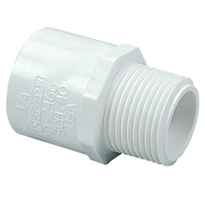 NIBCO 436 Series PVC Pipe Fitting, Adapter, Schedule 40, Slip x NPT Male