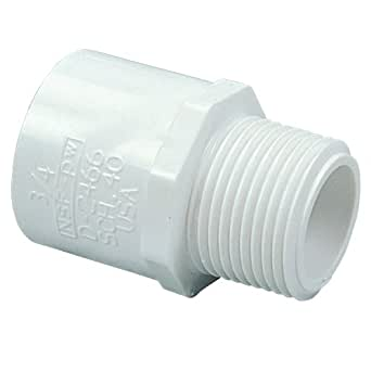 """NIBCO 436 Series PVC Pipe Fitting, Adapter, Schedule 40, 1"""" Slip x NPT Male"""
