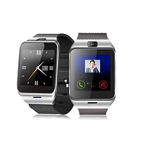 ELEGIANT GV18 Smart Bluetooth 3.0 NFC Watch Phone Camera TF Card Wristwatch for Smartphones IOS (Partial functions) iphone 55S6 Android (Full functions) Samsung S3S4S5S6S6 Edge Note 234edge HTC M8M9 Sony (Black)