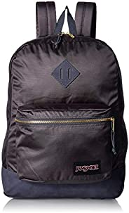 Mochila Super FX Jansport, Unissex, Deep Grey Gold Premium Poly, tamano Único