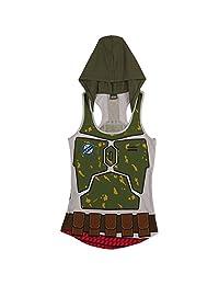 Star Wars I am Boba Fett Women's Hooded Tank Top, Large
