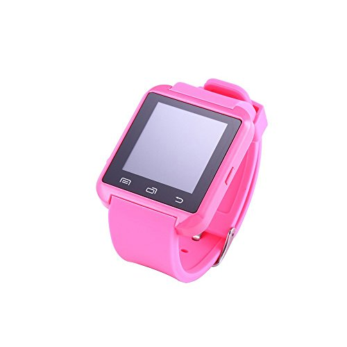 U8 Bluetooth Smart Wrist Watch Phone Mate with Iphone Android Samsung HTC LG (Pink)