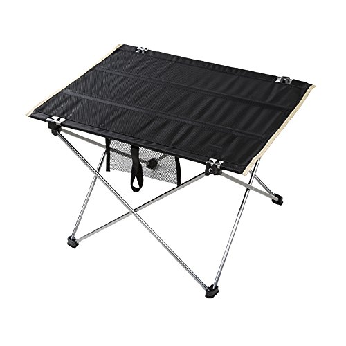 GZH Folding Table Ultralight Aluminum Outdoor Portable Camping Barbecue Picnic Table (Size : 745550cm) by GZH